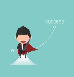 Happy face businessman a concept business success vector
