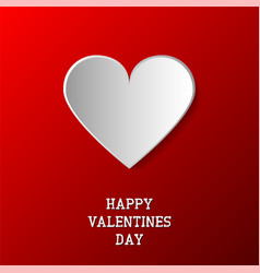 happy valentines day background paper origami vector image