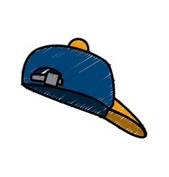 Hat cap isolated vector
