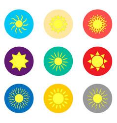 icon logo for set symbols hot yellow vector image