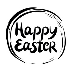inscription happy easter performed in the round vector image
