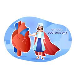 International doctors day vector
