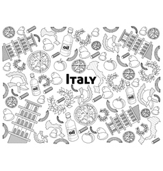 Italy colorless set vector