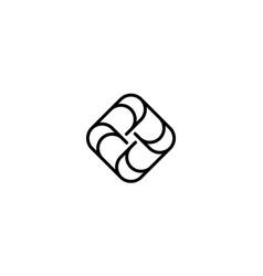 letter a logo design concept vector image