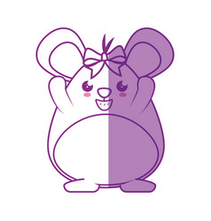 little mouse kawaii cartoon vector image