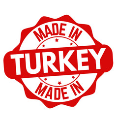 made in turkey sign or stamp vector image