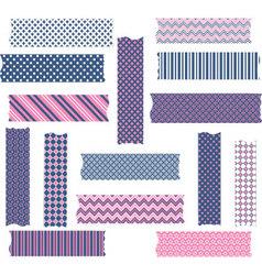 Nany and Pink Washi Tape Graphics set vector