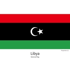 National flag libya with correct proportions vector