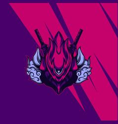 new cyborg assassin vector image