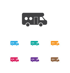 of trip symbol on trailer icon vector image