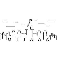 ottawa outline icon can be used for web logo vector image