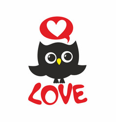 Owl love vector