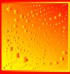 pattern from red diamonds on a yellow background vector image