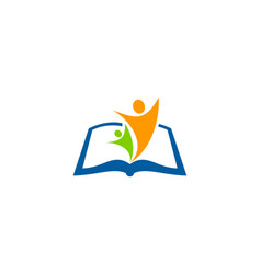 people book logo icon design vector image