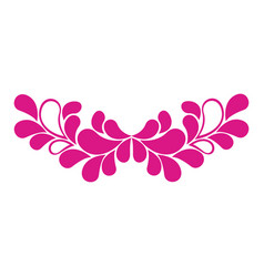 pink leaves decoration icon vector image
