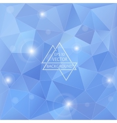 Polygon blue background vector