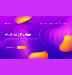 purple abstract liquid drop shape landing page vector image