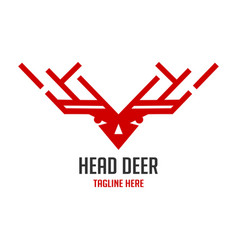red deer head logo vector image