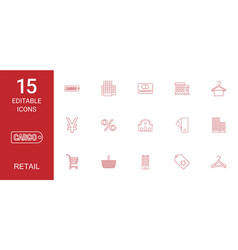 Retail icons vector