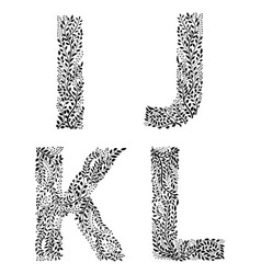 set of letters i j k and vector image