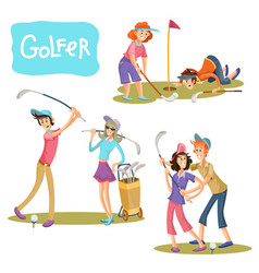 set of of golf games vector image
