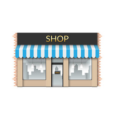 shop front store with empty showcase vector image