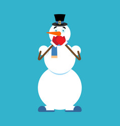 snowman omg xmas character oh my god new year and vector image
