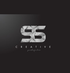 Ss s s letter logo with zebra lines texture vector