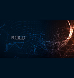 technology background with network mesh lines vector image