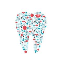 Teeth icons flat vector image