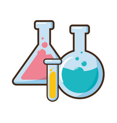 test tubes glassware science vector image