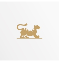 Tiger logo design template Cat vector