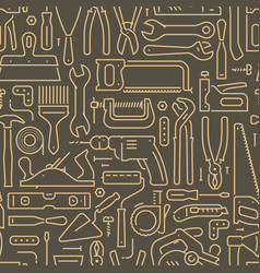 tools seamless background construction repair vector image