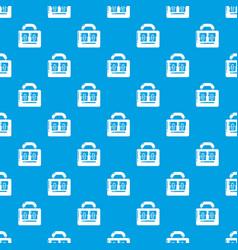 Travel bag vintage pattern seamless blue vector