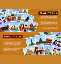 Travel to asian countries vector