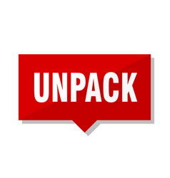 Unpack red tag vector