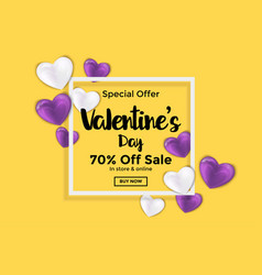 valentines day card or banner 2 vector image