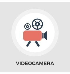 Video Camera Flat Icon vector image