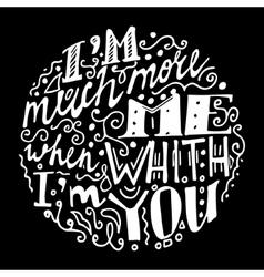 Vintage font black background vector image