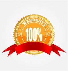 warranty sticker vector image