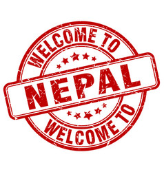 Welcome to nepal vector