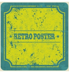 Abstract grunge vintage frame background vector image vector image