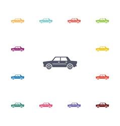 car flat icons set vector image vector image