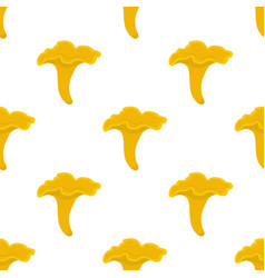 chanterelle mushroom seamless pattern vector image