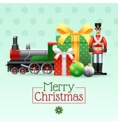 Christmas Vintage Toys Set vector image vector image