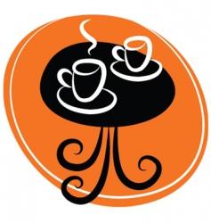 coffee table logo vector image