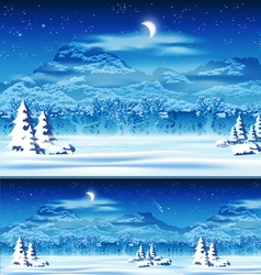 Edge of the Forest at Night vector image vector image
