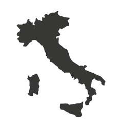 italy map isolated silhouette vector image