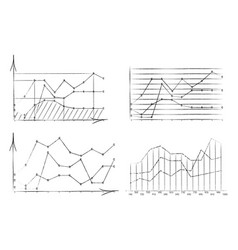 set of diagrams drawn with vector image