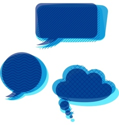 Set of trasnparent patterned speech bubbles vector image